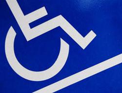 detalhe do símbolo universal de acesso