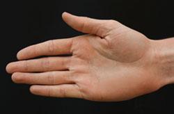 Mão estendida para ser apertada