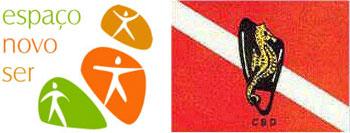 Logos Espaço Novo Ser e Clube Barracuda