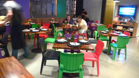 Mesas do Restaurante Market Ipanema