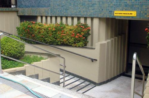 Rampa de acesso ao vestiário