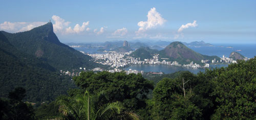 baia de Guanabara vista do alto da vista chinesa