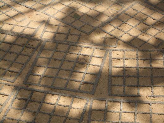 Chão do Projeto Tamar - cimento coberto por areia