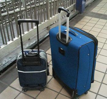 Duas malas - uma grande e uma pequena