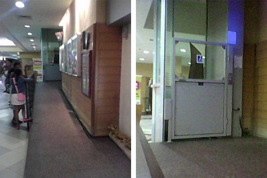 Rampa para o elevador de plataforma e elevador de plataforma