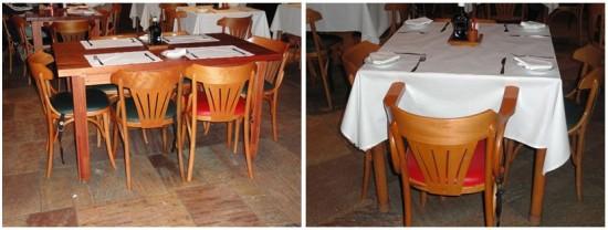 mesas do restaurante com ótimo acesso para cadeira de rodas