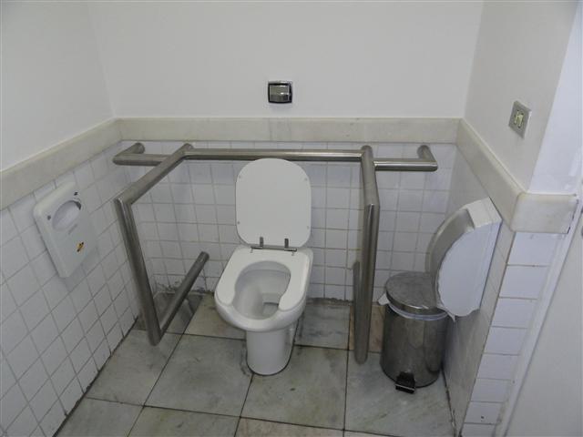 vaso sanitário do banheiro do America