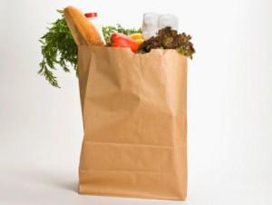 imagem de um pacote de compras de supermercado