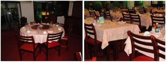 mesas do restaurante
