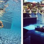 """A piscina é ótima para fazer brincar com a GoPro ou relaxar e tomar uns """"bons drinque""""."""