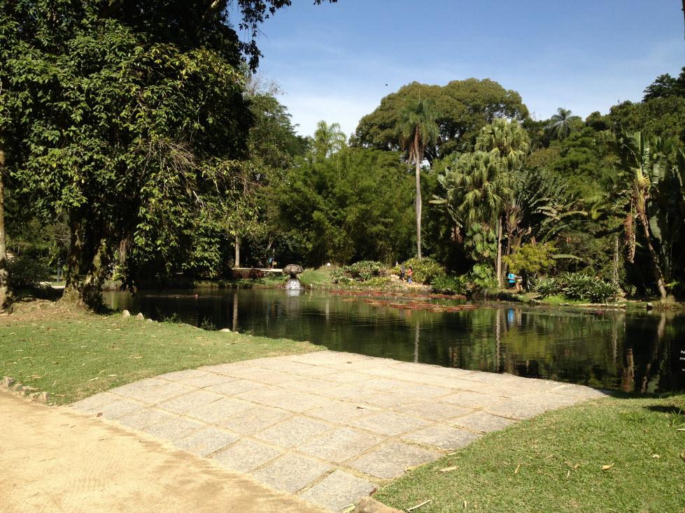 lago dentro do jardim botânico