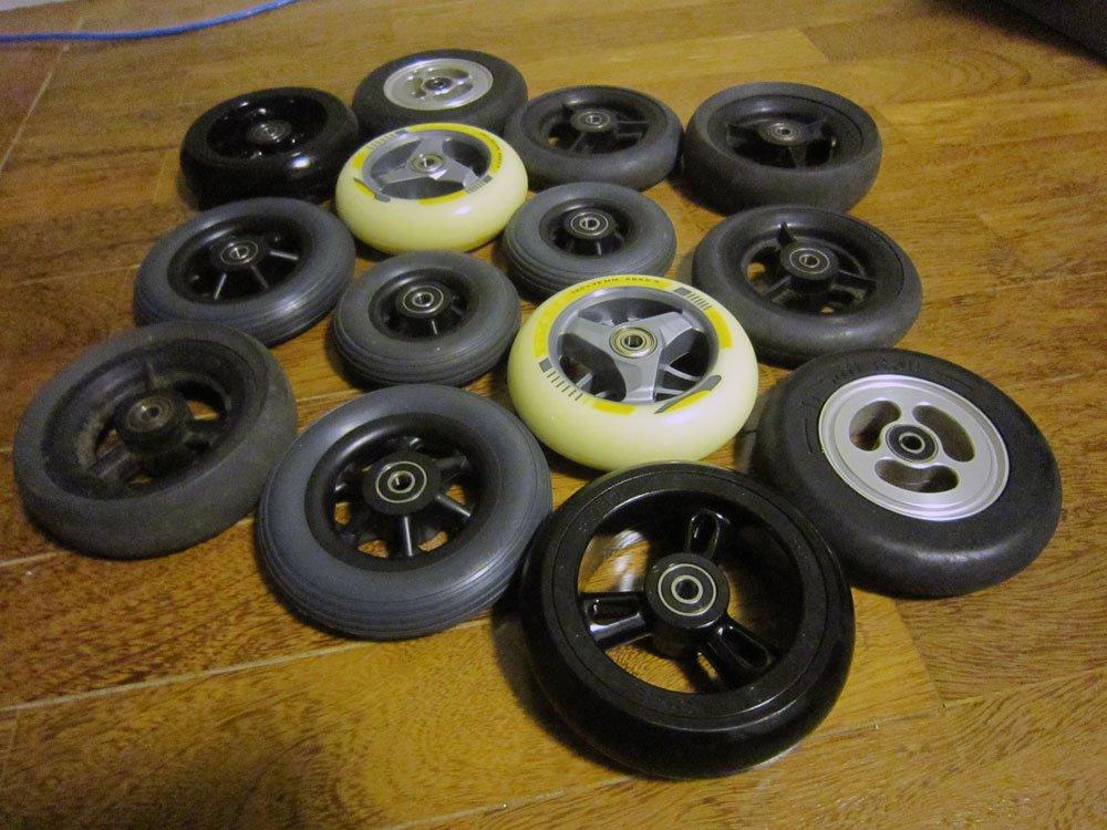 Diversos tipos de rodas dianteiras, para todos os gostos e necessidades!